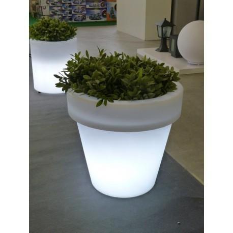 Macetero resina rotacional con luz mod magnolia noagarden - Maceteros de resina ...
