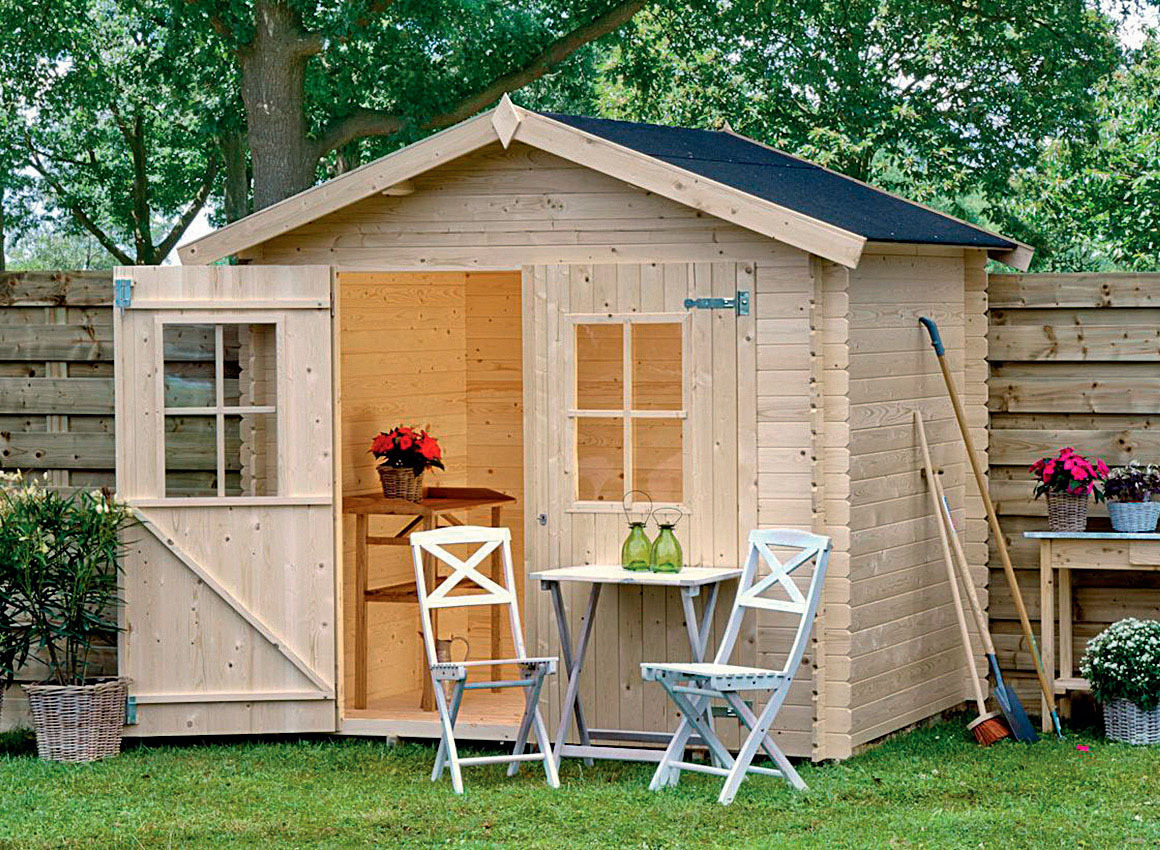 Caseta madera abeto para exterior mod fina noagarden - Caseta madera exterior ...